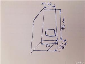 Cusca pentru catel de talie mica si medie, din OSB, izolata cu polistiren de 2cm.  - imagine 8