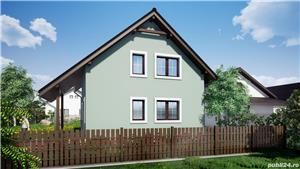 Vand proiect complet pentru o casa unifamiliala Parter + Mansarda - imagine 3