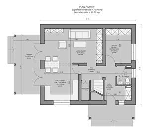 Vand proiect complet pentru o casa unifamiliala Parter + Mansarda - imagine 1