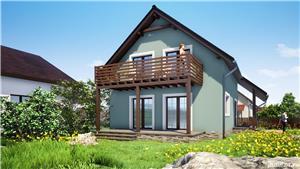 Vand proiect complet pentru o casa unifamiliala Parter + Mansarda - imagine 5