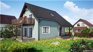 Vand proiect complet pentru o casa unifamiliala Parter + Mansarda - imagine 7