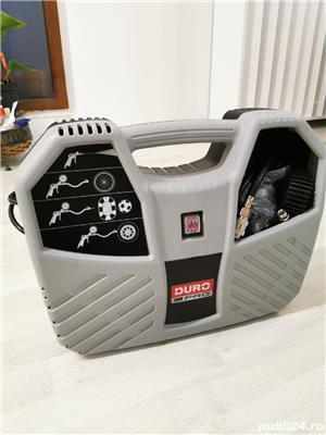 Compresor aer fara ulei Duro Pro, cu piston 1100W, 8bar, 180l/min, 9 accesorii - imagine 1