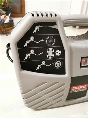 Compresor aer fara ulei Duro Pro, cu piston 1100W, 8bar, 180l/min, 9 accesorii - imagine 4