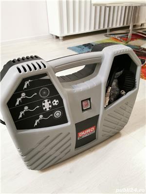 Compresor aer fara ulei Duro Pro, cu piston 1100W, 8bar, 180l/min, 9 accesorii - imagine 2