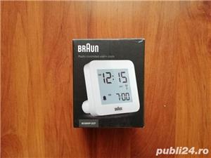 Vand ceas cu alarma BRAUN BC09WP-DCF ,, nou,, - imagine 1