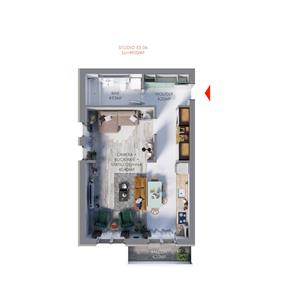Vand apartament 2 camere finisat, la cheie - imagine 1