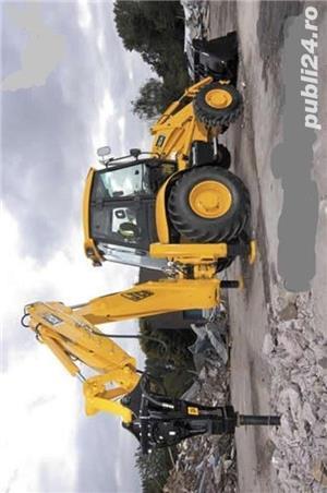 Închiriez utilaje constructii,buldo-excavator,miniexcavator,Bobcat,cilindru - imagine 2