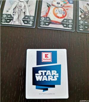 Star Wars - set complet de 48 de cartonașe plasticate de la Kaufland - imagine 2