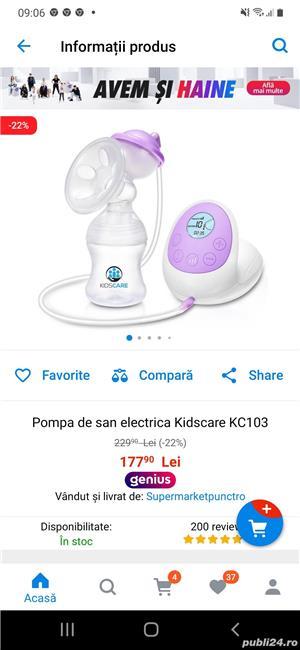 Vând balansoar bebelus + pompa de san electica  - imagine 2