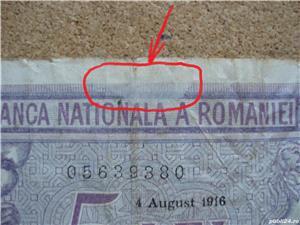ROMANIA - 5 LEI 1916 , B1.8 - imagine 2