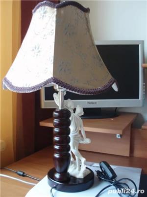 LAMPA ARTIZANALA CU STATUETA ALABASTRU - imagine 2