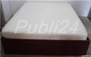Cadru de pat dublu; Pat de mijloc cu Somiera si Saltea 200x160 cm - imagine 1