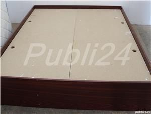 Cadru de pat dublu; Pat de mijloc cu Somiera si Saltea 200x160 cm - imagine 5