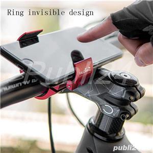 Suport invizibil inel aluminiu smartphone ghidon bicicleta trotineta - imagine 2