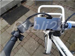 Suport invizibil inel aluminiu smartphone ghidon bicicleta trotineta - imagine 5