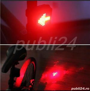 Stop bicicleta lumini viraje laser infrarosu - imagine 5