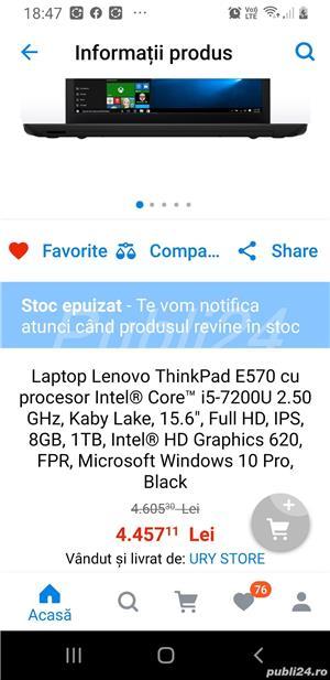 Vand laptop Lenovo ThinkPad E 570. - imagine 9