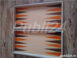 Sah artizanal din lemn, cu piese si table 44x 44cm - imagine 6