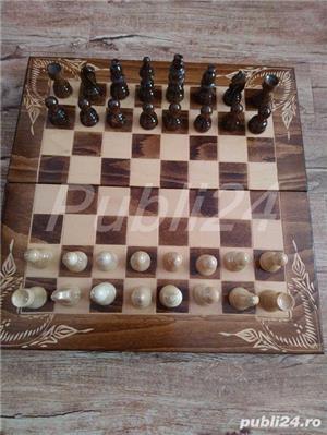 Sah artizanal din lemn, cu piese si table 44x 44cm - imagine 7
