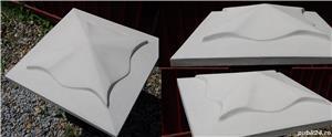 Capace palarii coame din beton alb si colorat pentru garduri si stalpi. Calitate extra! - imagine 3