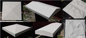 Capace palarii coame din beton alb si colorat pentru garduri si stalpi. Calitate extra! - imagine 4