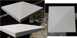 Capace palarii coame din beton alb si colorat pentru garduri si stalpi. Calitate extra! - imagine 5