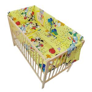 Lenjerie patut bebe cu aparatori laterale - imagine 4