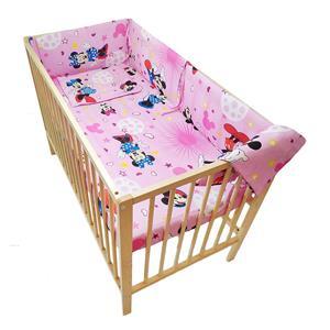 Lenjerie patut bebe cu aparatori laterale - imagine 6
