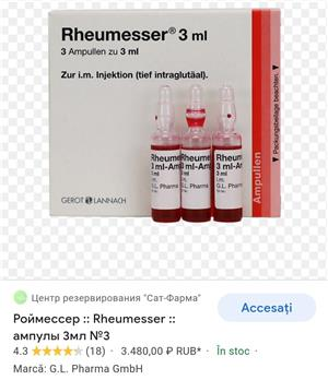 Vand Rheumesser 3 ml fiole - imagine 3