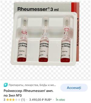 Vand Rheumesser 3 ml fiole - imagine 2
