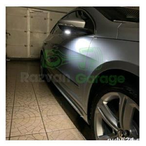Set 2 lampi Led sub oglinda 6000k VW Passat CC B7 Jetta puddle lights - imagine 7